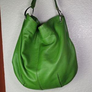Antonio Melani green leather bucket purse